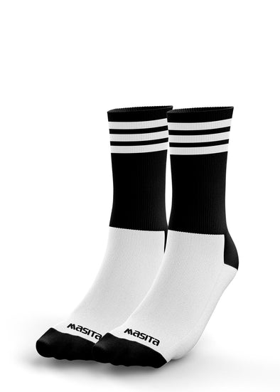 Black/White Midi Socks Kids