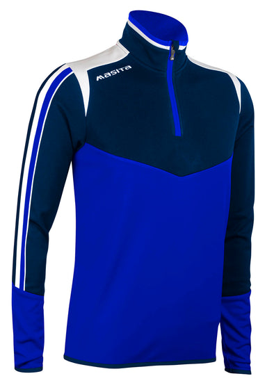 Montana Half Zip Blue White