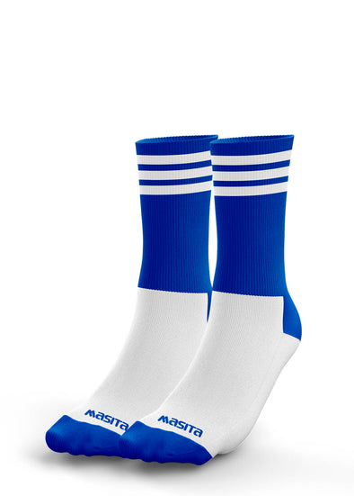 Blue/White Midi Socks Kids