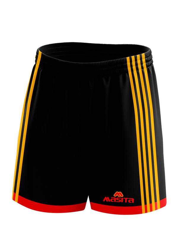 Solo Gaelic Shorts Black/Red/Amber Kids