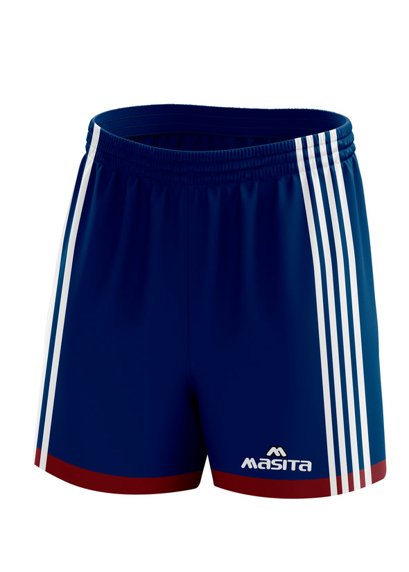 Solo Gaelic Shorts Navy/Maroon/White Adult