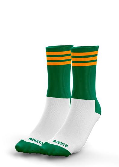 Green/Amber Midi Socks Adults