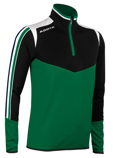 Montana Half Zip Green Black