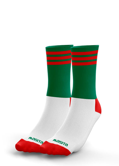 Green/Red Midi Socks Kids