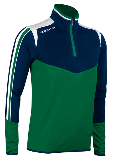 Montana Half Zip Green White