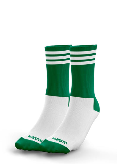 Green/White Midi Socks Kids
