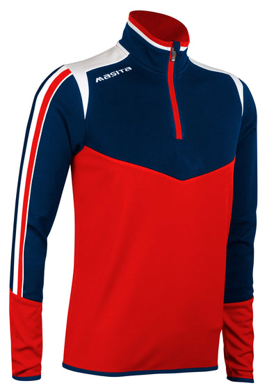 Montana Half Zip Red White