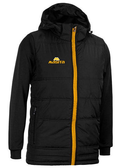 Nova Padded Jacket With Detachable Hood Black/Amber