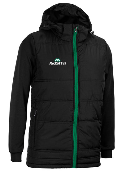 Nova Padded Jacket With Detachable Hood Black/Green
