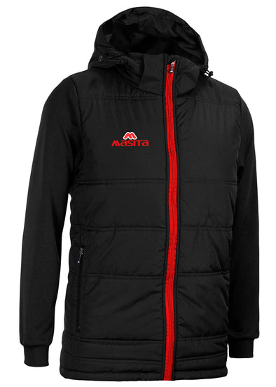 Nova Padded Jacket With Detachable Hood Black/Red