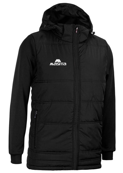 Nova Padded Jacket With Detachable Hood Black