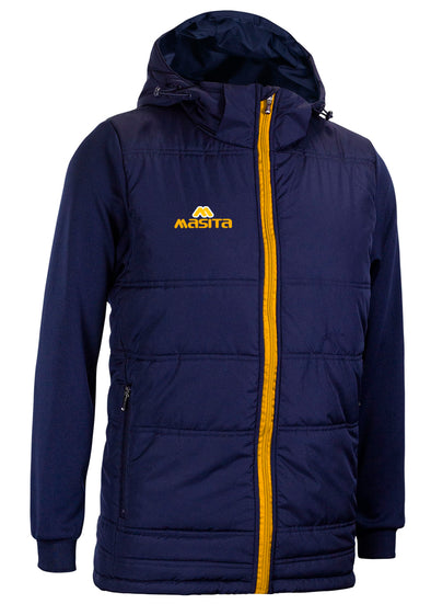 Nova Padded Jacket With Detachable Hood Navy/Amber