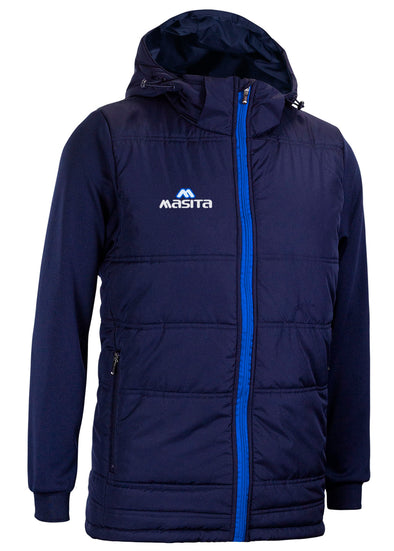 Nova Padded Jacket With Detachable Hood Navy/Blue