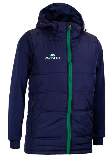 Nova Padded Jacket With Detachable Hood Navy/Green