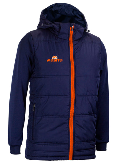 Nova Padded Jacket With Detachable Hood Navy/Orange