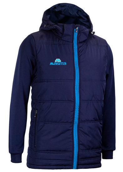 Nova Padded Jacket With Detachable Hood Navy/Sky