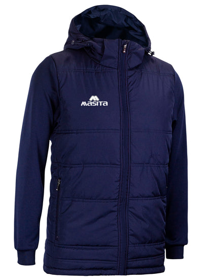 Nova Padded Jacket With Detachable Hood Navy
