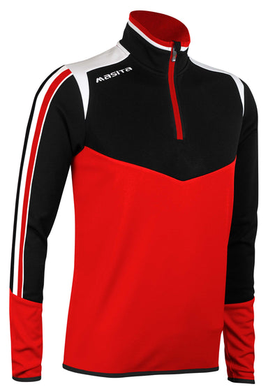 Montana Half Zip Red Black