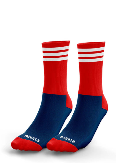 Navy/Red/White Midi Socks Adults