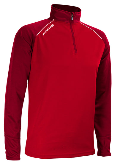 Supreme Half Zip Red/White