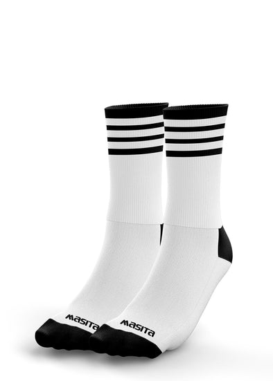 White/Black Midi Socks Adults
