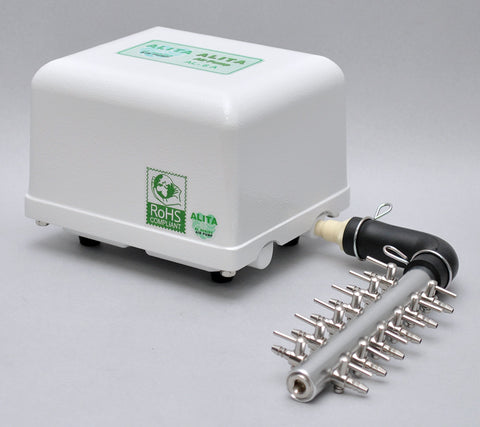Alita AL-15A Linear Air Pump + 12 Gang Manifold