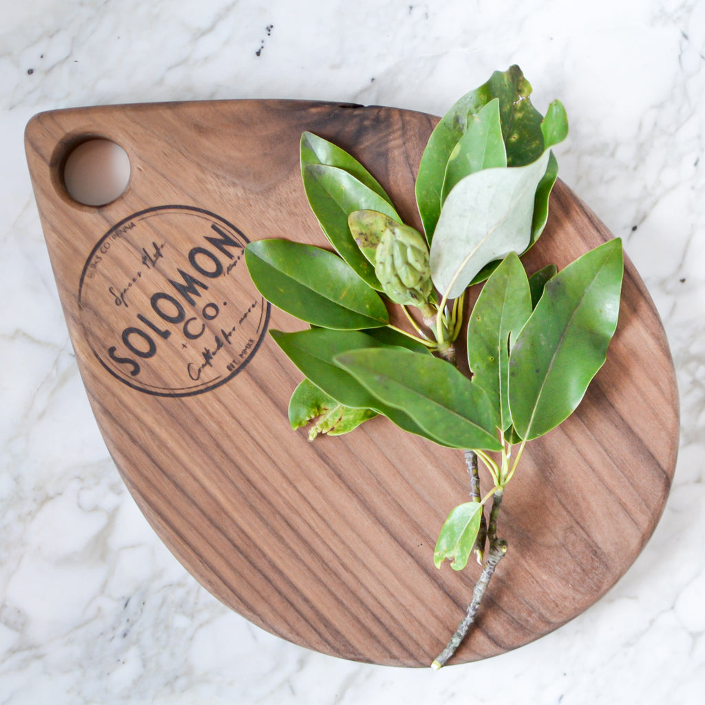 Charcuterie board, walnut wood, cutting board