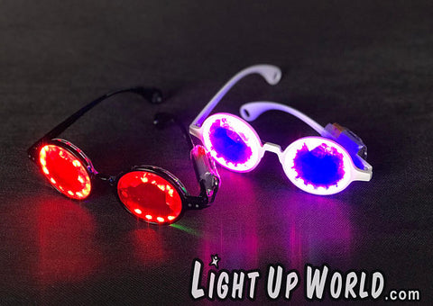 Light Up Fractal Sunglasses - Arduino, Pixel Glasses - Amazing! Also available in Dust Goggles.