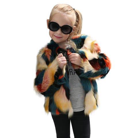 Children's Imagination Wonder Coat | Youth Faux Fur Coat