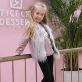 Youth Vest | A Princess's Dream Vest | Faux Fur Vest
