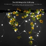 Flower Shaped Wearable LED Lights | 20-LED's 2M Watch Battery Power Pack
