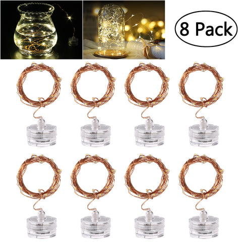 Waterproof Fairy String Lights | 2M (8 pack) Watch battery pack