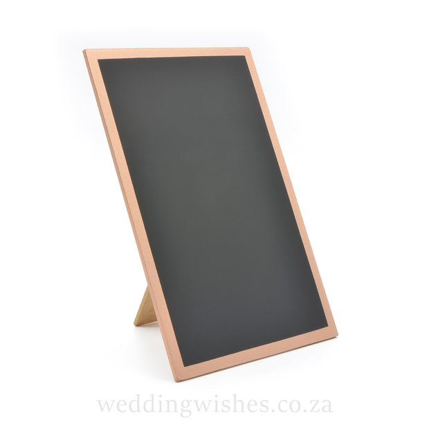 Wood Blank Chalkboard Frame Sign Rose Gold For Wedding Table