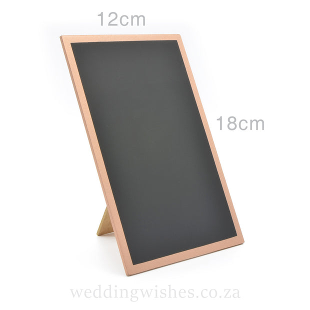 Wood Blank Chalkboard Frame Sign Rose Gold For Wedding Table With Dimensions