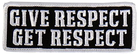 "Hot Leathers - PPL9471 Give Respect Embroidered Patch (Multicolor, 4"" x 2"")"