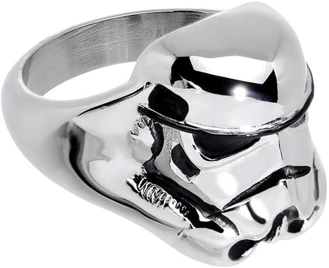 Animewild Star Wars 3D Storm Trooper Ring Size (6)