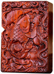 Natural Huanghuali Rosewood Carving Lighter Shell Box For Zippo Module (Monkey King 1#)