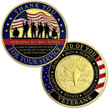 Thank You for Your Service Military Appreciation Challenge Coin
