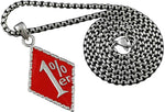 Crazy Hunter 1% ER One Percent Exquisite Red 316L Stainless Steel Mens Pendant Necklace Chain