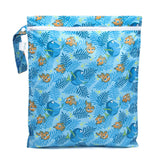 Bumkins Nintendo Waterproof Wet Bag, Washable, Reusable for Travel, Beach, Pool, Stroller, Diapers, Dirty Gym Clothes, Wet Swimsuits, Toiletries, Electronics, Toys, 12x14 - NES Controller