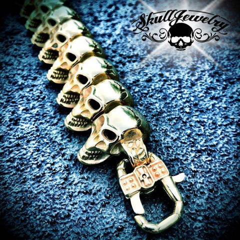 Gold-Tone Go Your Own Way Big & Bold Skull Bracelet