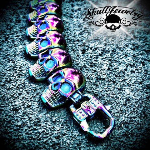 Multi-Color Go Your Own Way Big & Bold Skull Bracelet