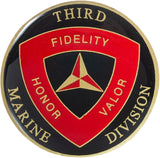 United States Marine Corps 3rd Marine Division Challenge Coin