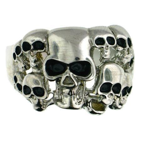 Skulls Stainless Steel Ring