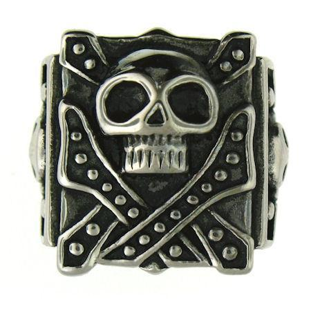 Jawless Skull Stainless Steel Polished Ring