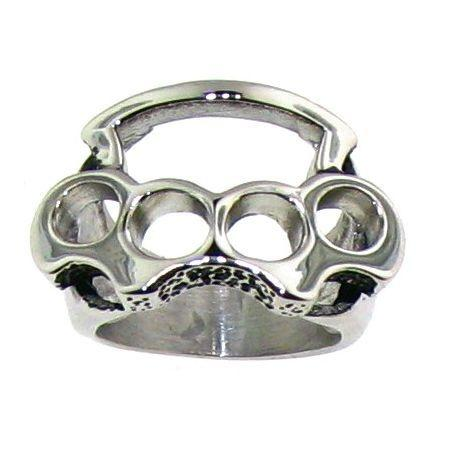Stainless Steel Brass Knuckles Polished Ring