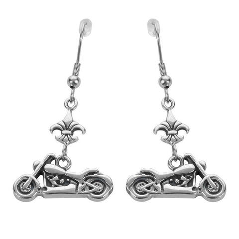 Motorcycle Fleur De Lis French Wire Stainless Steel Biker