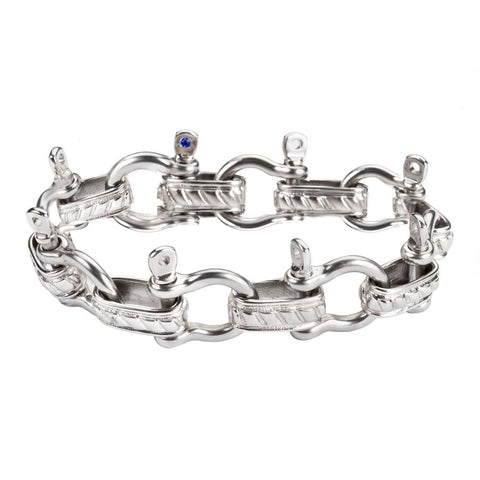 STAINLESS STEEL BOAT SHACKLE BRACELET