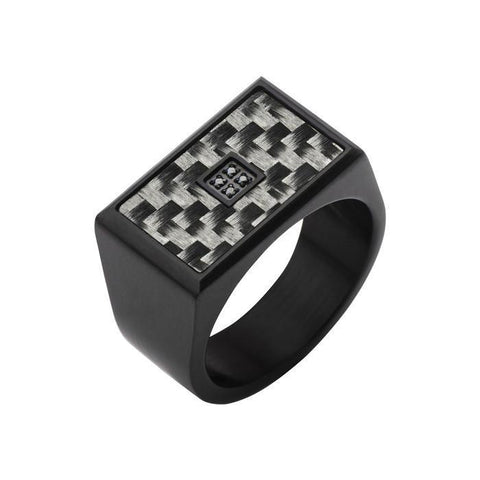 Black Ring with Black IP (Stainless Steel)