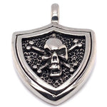 Skull And Shield Stainless Steel Pendant